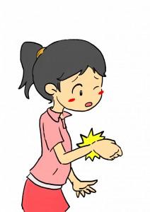 バネ指の痛み