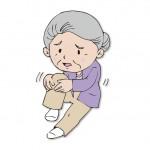 膝の変形が目立つ。歩行が困難。