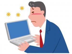 パソコンでの眼精疲労と肩こり